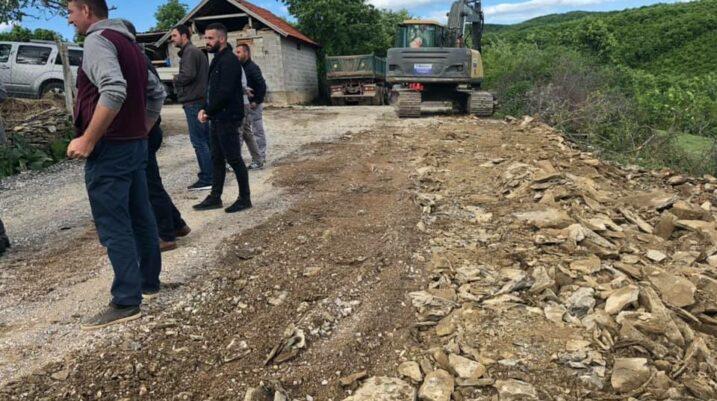 """Në Bllacë po ndërtohet rruga """"Ushtria e Kosovës – Kadri Qollaku"""""""