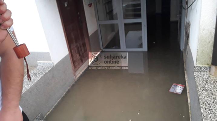 [VIDEO/FOTO] Reshjet e shiut vërshojnë objekte banimi