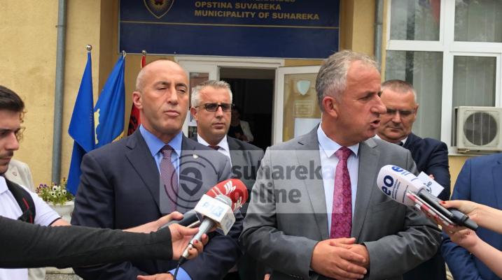 Ramush Haradinaj viziton Suharekën