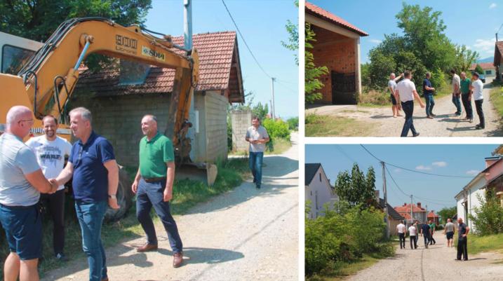 Edhe në fshatin Sallagrazhdë po rregullohen rrugët lokale