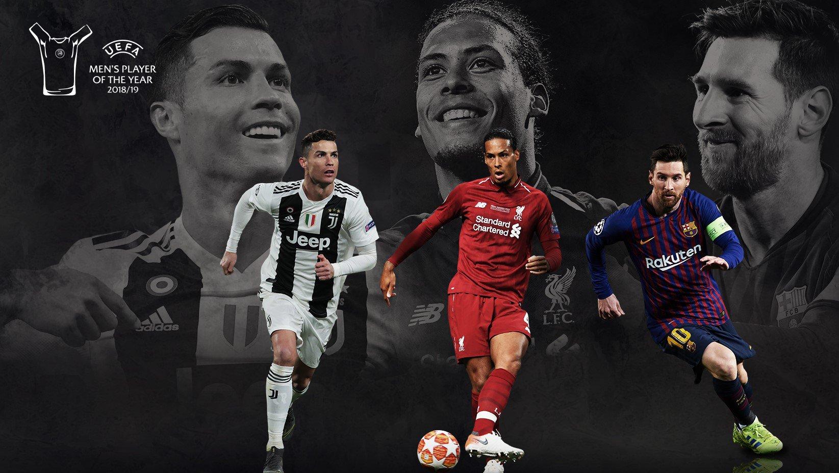 """[EKSKLUZIVE] UEFA zyrtarizon tre finalistët për çmimin """"Lojtari i Vitit"""""""