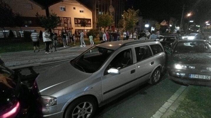 Garat me vetura shkaktojnë aksident të rëndë në Prizren, pesë të lënduar