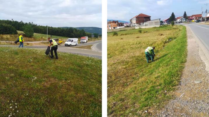Punëtorët e pastrimit nuk ndalen, pastrojnë rrugën Duhël-Suharekë