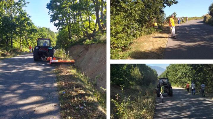 Pastrohet rruga nga Budakova në drejtim të Vraniqit