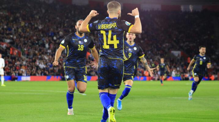 UEFA e vlerëson Berishën pas paraqitjes mbresëlënëse kundër Anglisë