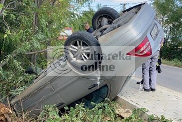 Rrokulliset një veturë në fshatin Dubravë të Suharekës, lëndohet një person
