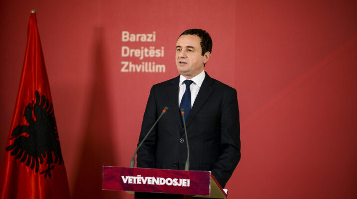 Albin Kurti: Prioritet zvogëlimi i pushtetit për forcim të shtetit
