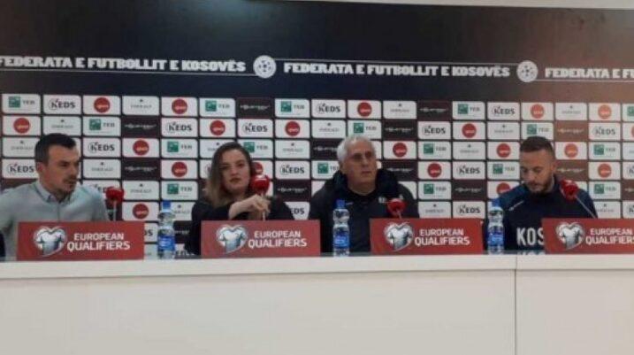 Trajneri i Kosovës dhe kapiteni Rrahmani shprehen optimist para ndeshjes me Anglinë