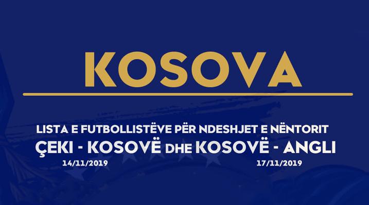 Trajneri i Kosovës publikon listën e lojtarëve të ftuar për ndeshjet me Çekinë dhe Anglinë