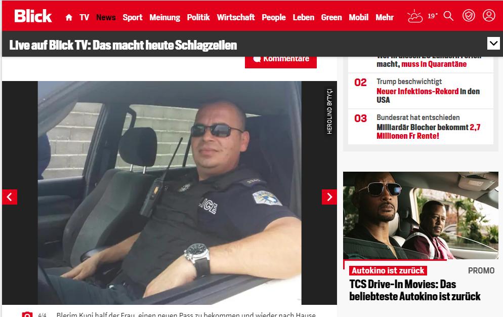 Shkruajnë mediat zvicerane, polici nga Suhareka ndihmon gruan zvicerane