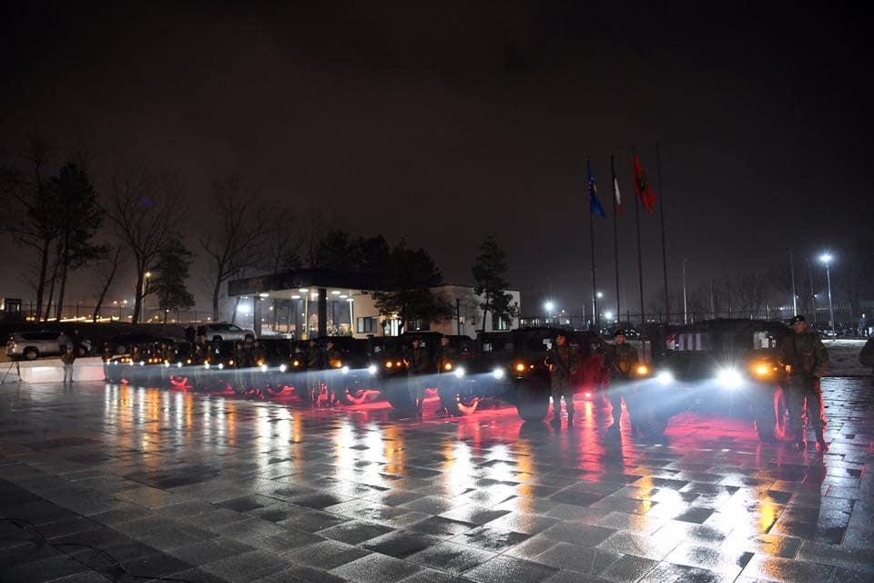 Ushtrisë së Kosovës i është shtuar një kontingjent prej 42 automjetesh