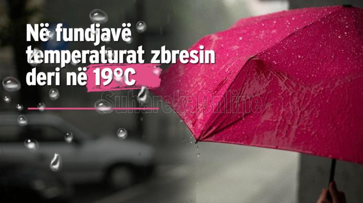 Edhe ditëve në vijim do të mbretërojnë vransira të shoqëruara me reshje shiu