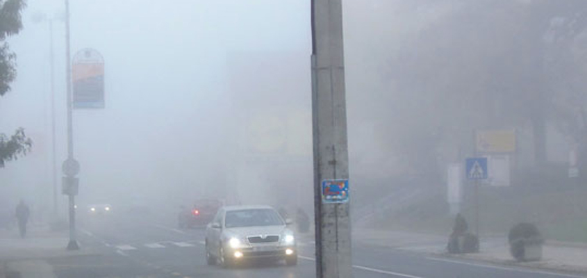 Moti sot me diell e vranësira, mengjesi me mjegull