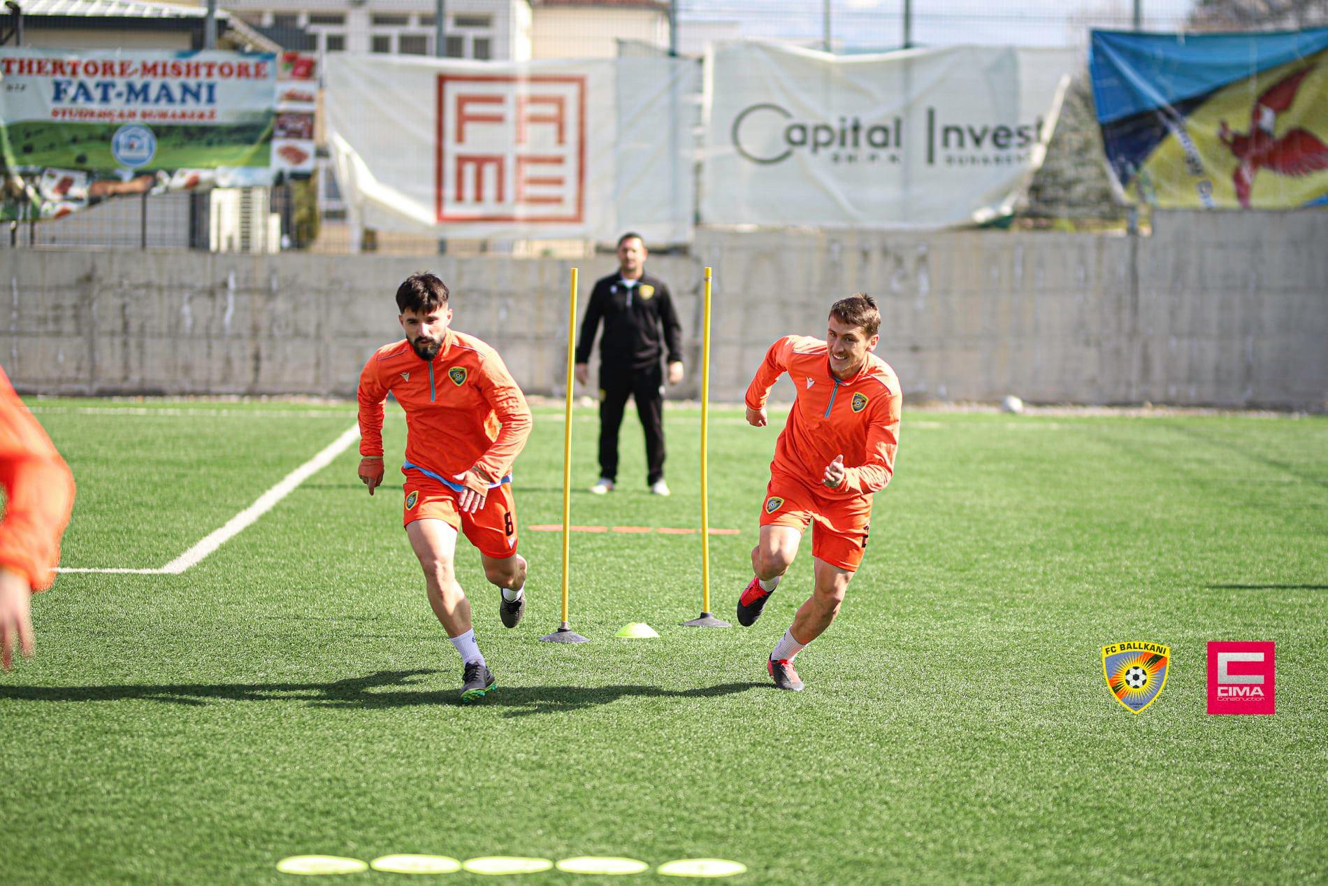 FC Ballkani zhvillon stërvitjen e fundit para ndeshjes me SC Gjilanin