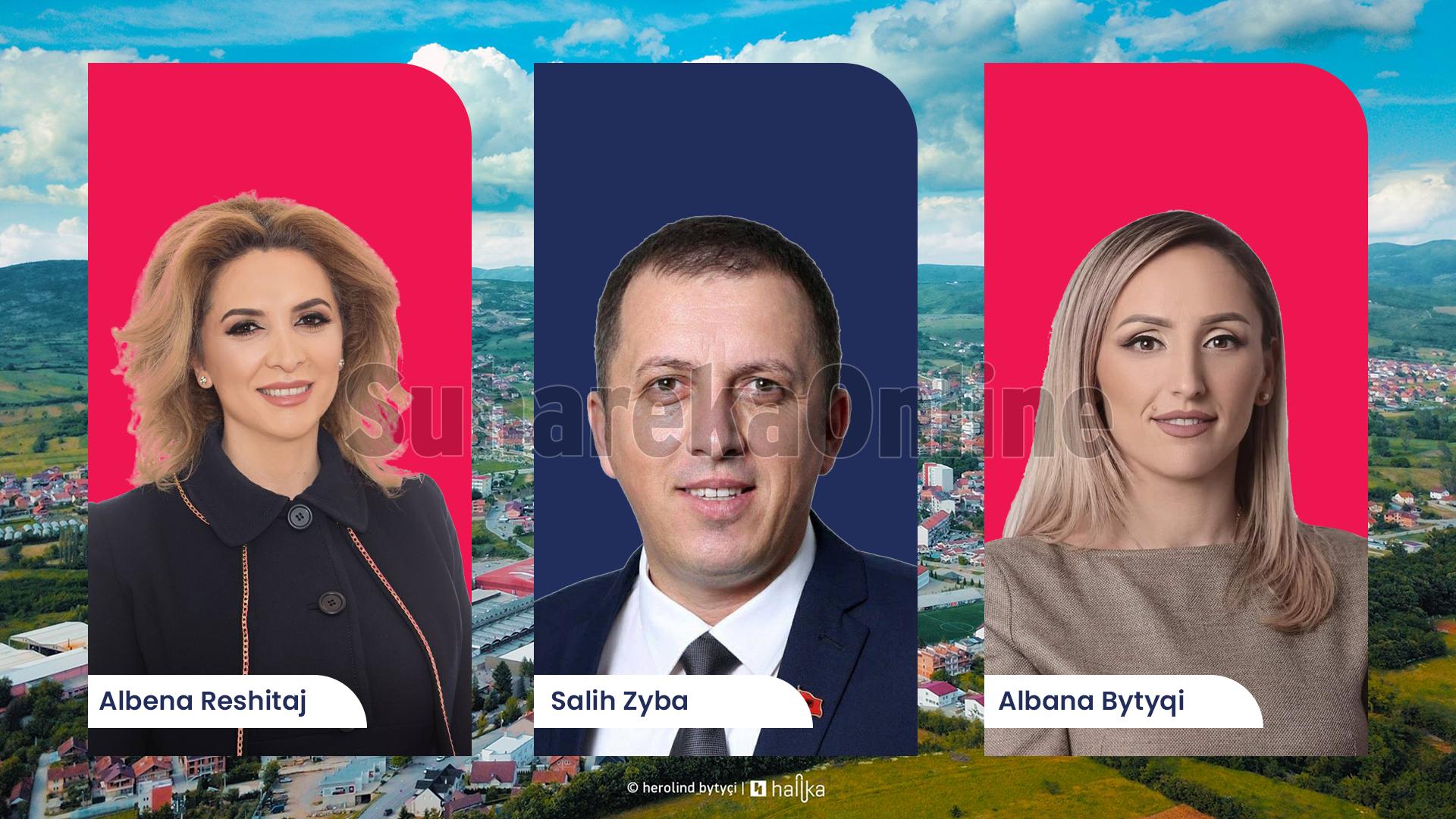 Tre deputetët nga Suhareka që siguruan ulëse në Kuvendin e Kosovës
