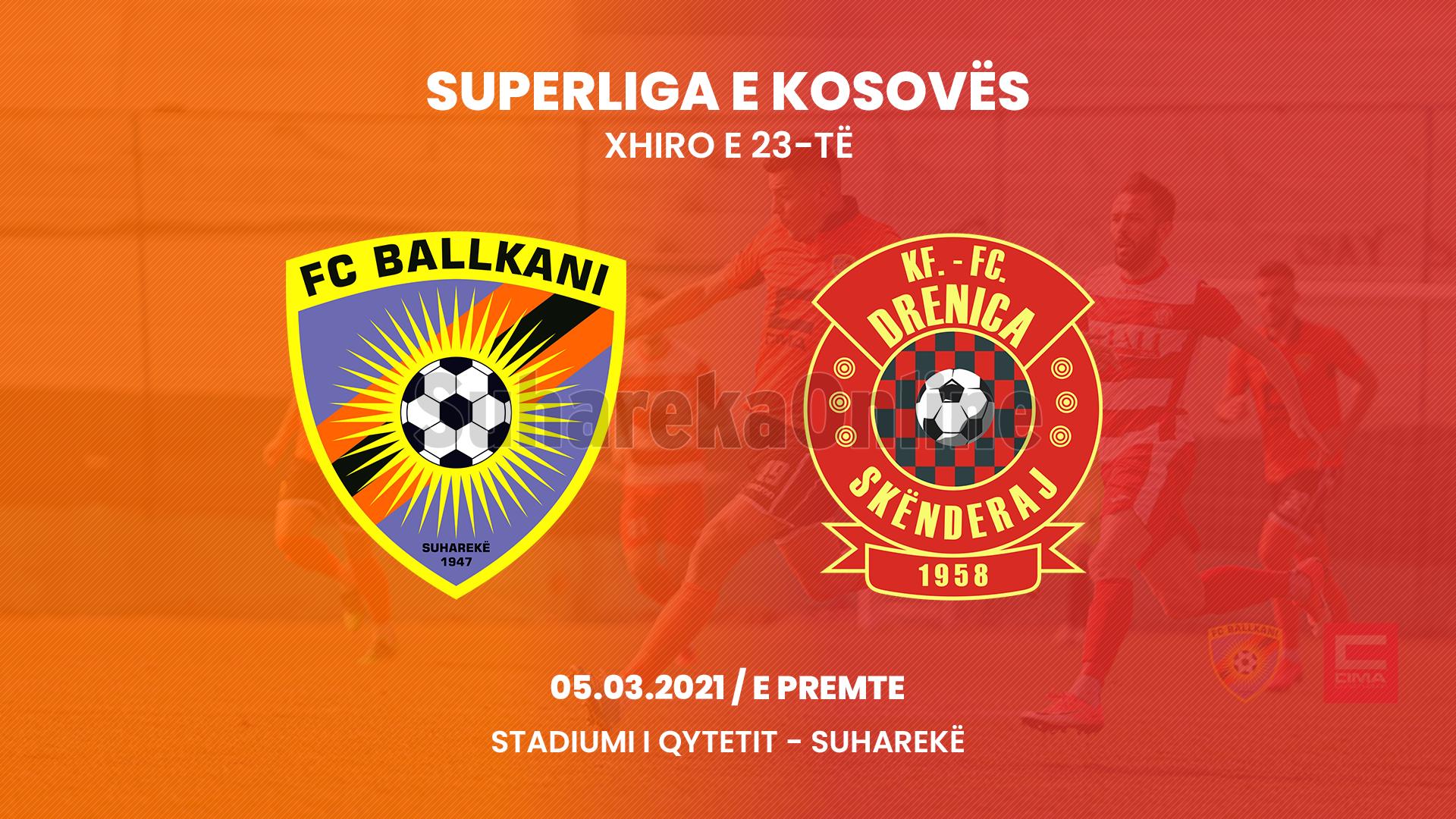 Nesër ndeshje interesante në Suharekë, Ballkani – Drenica