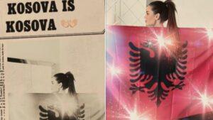"""Këngëtarja shqiptare i reagon Vuçiqit: Përditësoni hartën tuaj, """"Kosova is Kosova"""""""