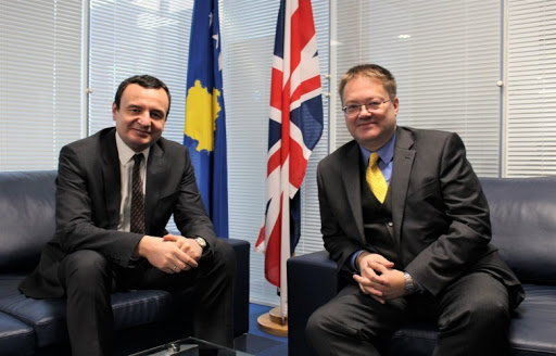 Ambasadori britanik uron Kurtin për zgjedhjen në krye të ekzekutivit