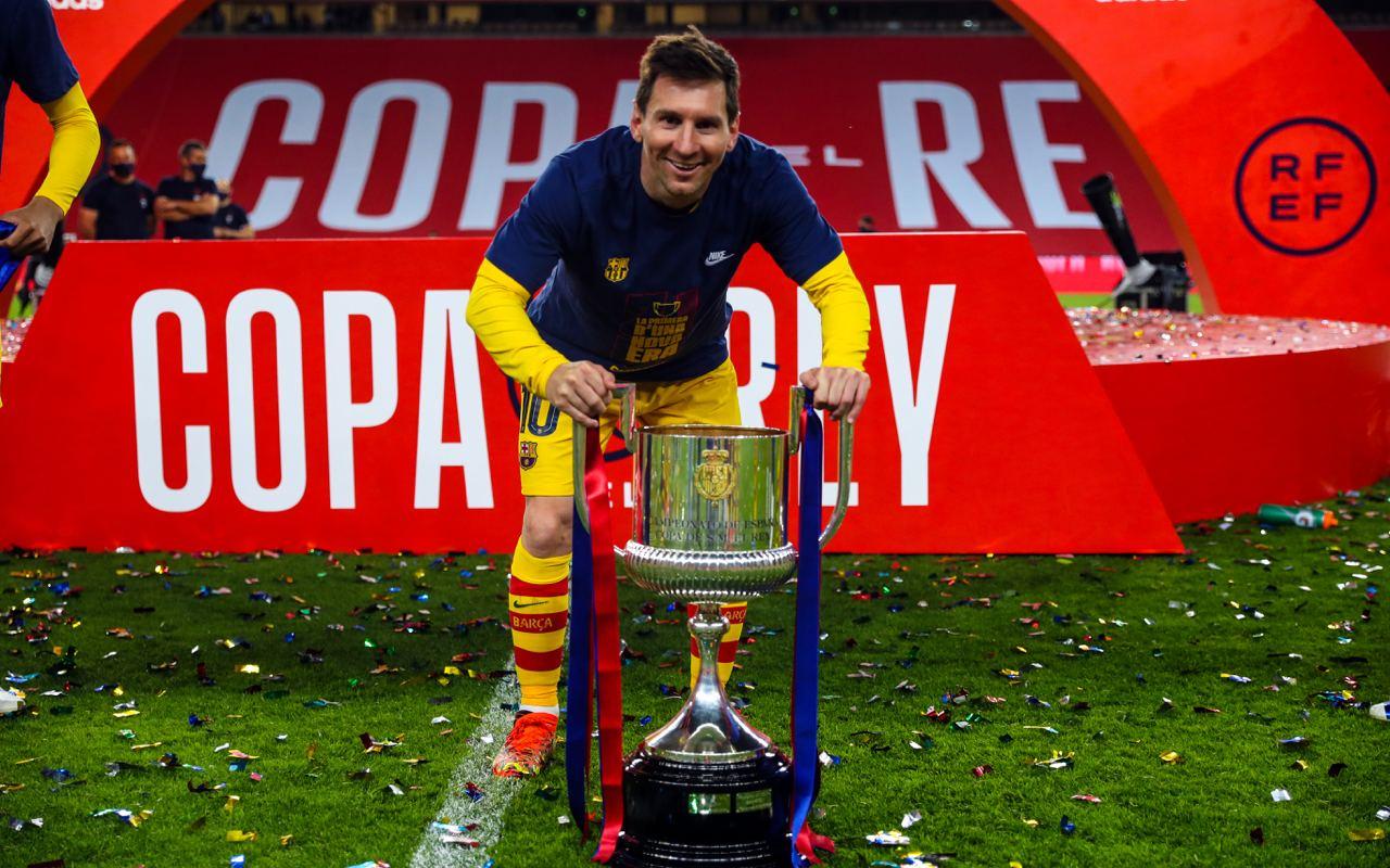 Pique: Messi duket më i lumtur tani por s'e di nëse do të qëndrojë