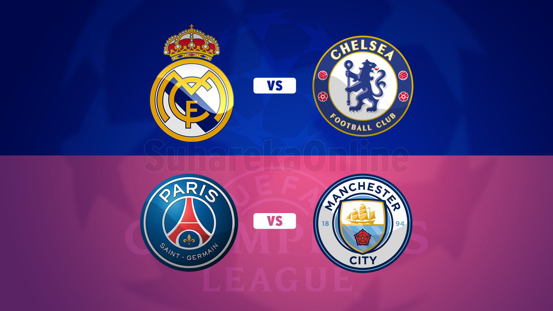 UEFA publikon orarin për gjysmëfinalet në Champions League