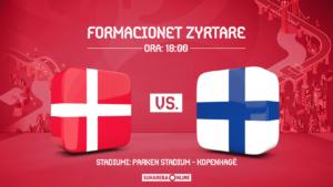 EURO 2020, Danimarka – Finlanda, formacionet zyrtare