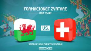 EURO 2020, Uellsi – Zvicra, formacionet zyrtare – startojnë Shaqiri e Xhaka